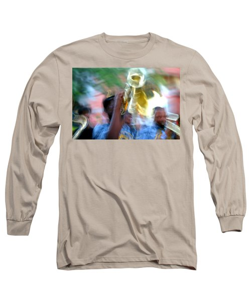 New Orleans Abstract Street Jazz Performance Long Sleeve T-Shirt