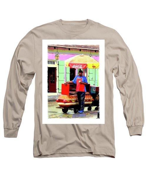 New Orleans Hotdog Vendor Long Sleeve T-Shirt