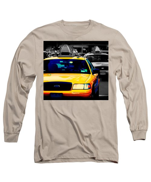 New York Taxi Long Sleeve T-Shirt by Christopher Woods