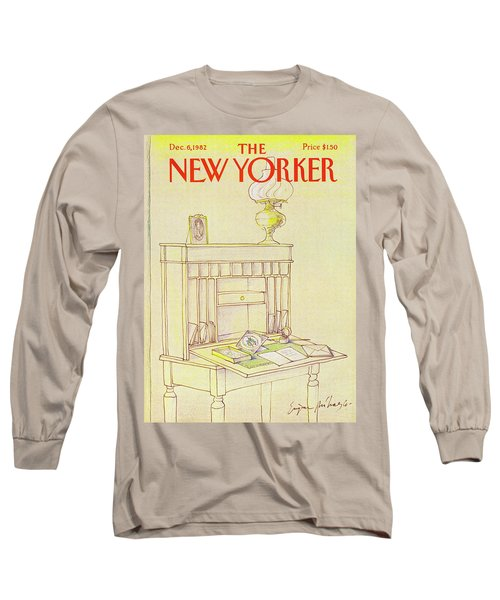 New Yorker Cover December 6th 1982 Long Sleeve T-Shirt