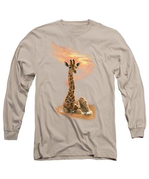 Newborn Giraffe Long Sleeve T-Shirt