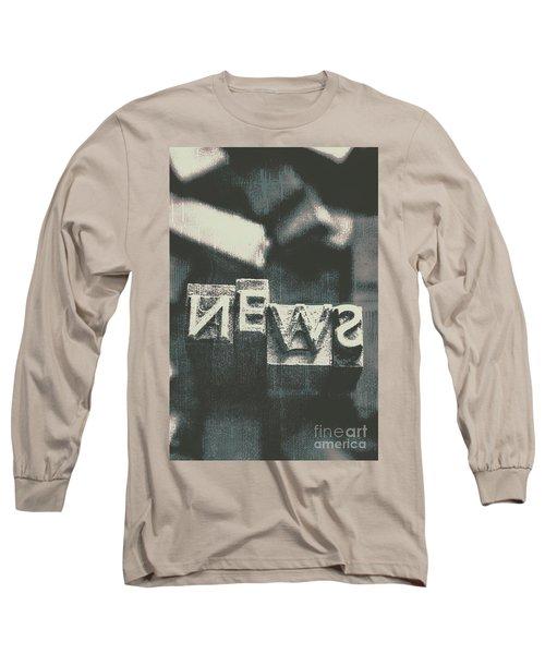 Newspaper Printing Press Art Long Sleeve T-Shirt