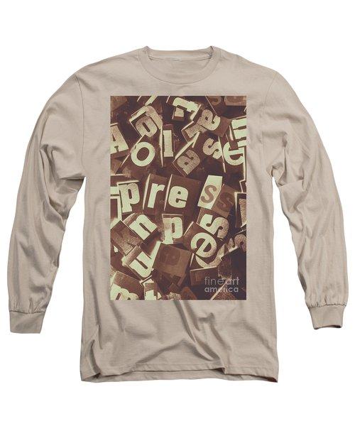 Newsprint Journalism Long Sleeve T-Shirt