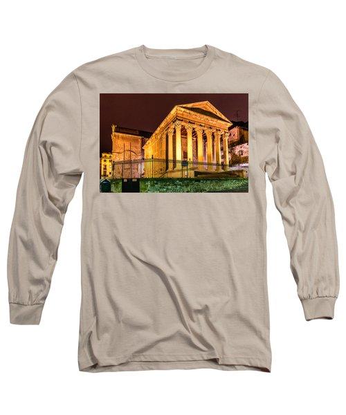 Night At The Roman Temple Long Sleeve T-Shirt