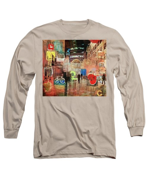 Long Sleeve T-Shirt featuring the photograph Night In The City by Susan Stone