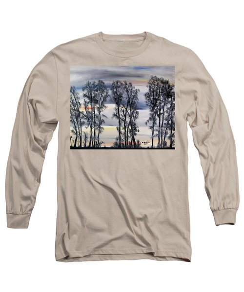 Long Sleeve T-Shirt featuring the painting Nightfall Approaching by Marilyn  McNish