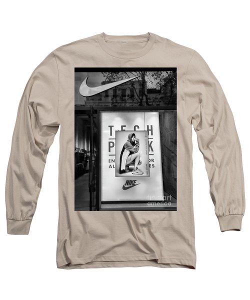 Nike Display Street Photo Black Retail Store  Long Sleeve T-Shirt