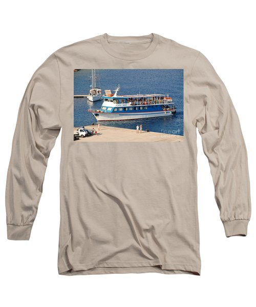 Nikos Express Ferry At Halki Long Sleeve T-Shirt