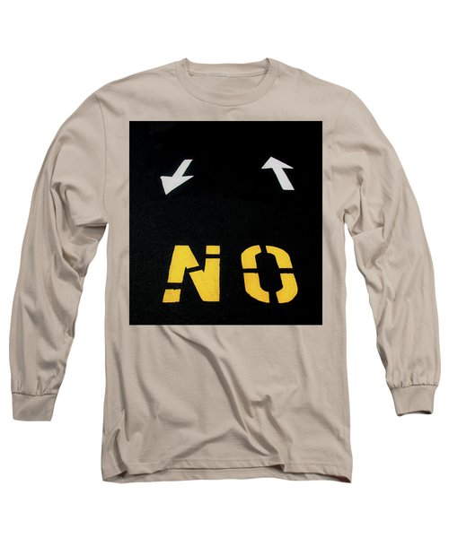 Long Sleeve T-Shirt featuring the photograph No Sense Of Direction Traffic Lines by Gary Slawsky