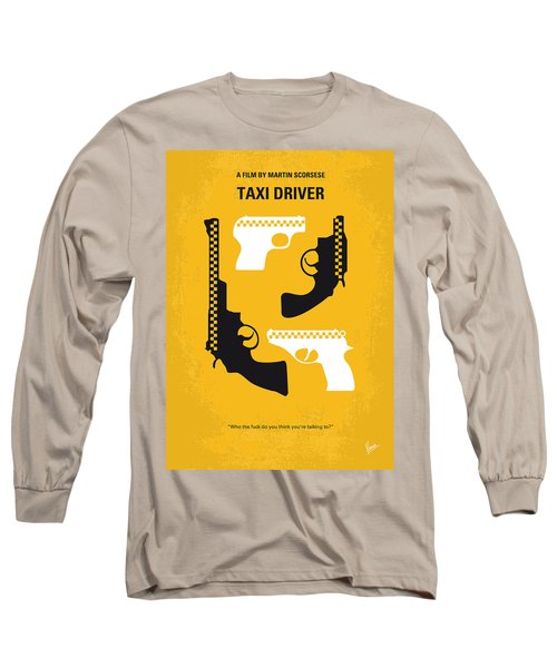 No087 My Taxi Driver Minimal Movie Poster Long Sleeve T-Shirt