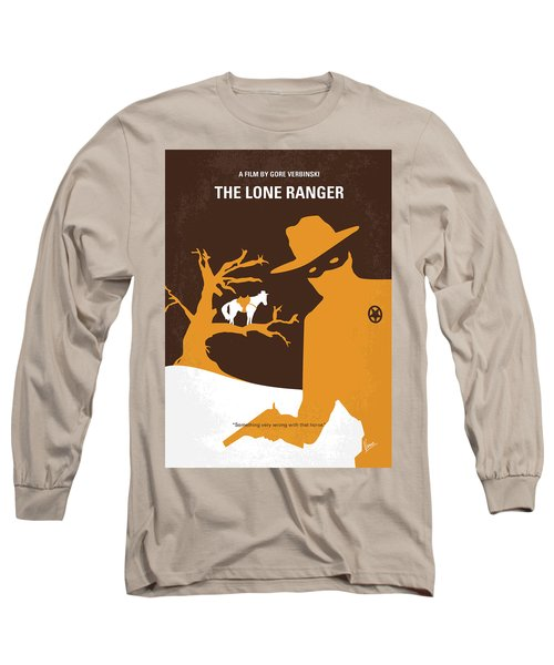 No202 My The Lone Ranger Minimal Movie Poster Long Sleeve T-Shirt