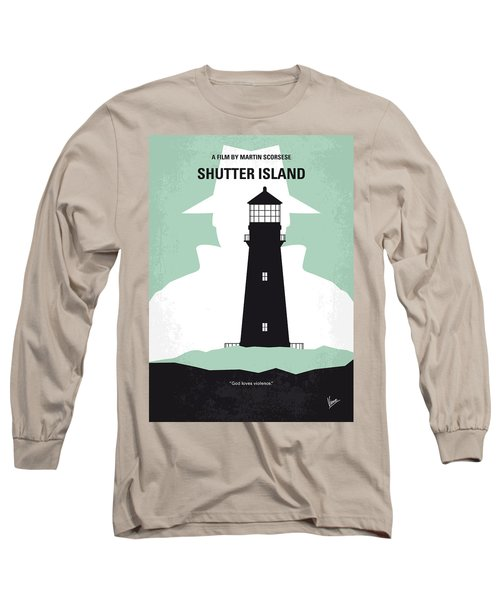No513 My Shutter Island Minimal Movie Poster Long Sleeve T-Shirt