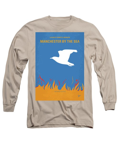 Long Sleeve T-Shirt featuring the digital art No753 My Manchester By The Sea Minimal Movie Poster by Chungkong Art