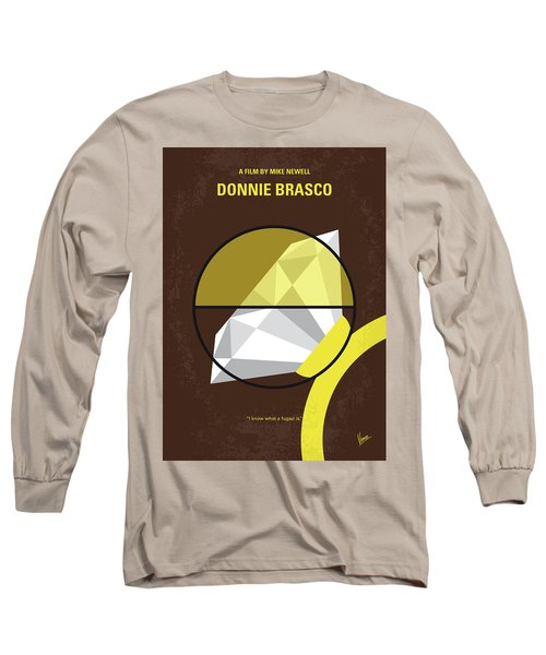 Long Sleeve T-Shirt featuring the digital art No766 My Donnie Brasco Minimal Movie Poster by Chungkong Art