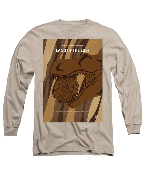 Long Sleeve T-Shirt featuring the digital art No773 My Land Of The Lost Minimal Movie Poster by Chungkong Art