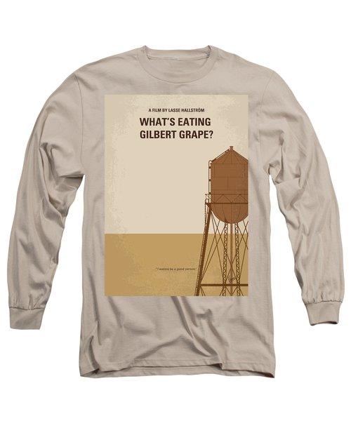 No795 My Whats Eating Gilbert Grape Minimal Movie Poster Long Sleeve T-Shirt by Chungkong Art