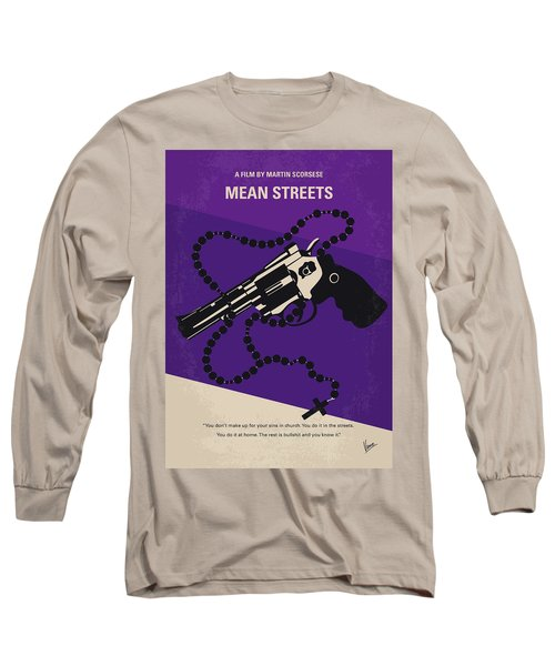 No823 My Mean Streets Minimal Movie Poster Long Sleeve T-Shirt