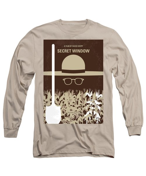 No830 My Secret Window Minimal Movie Poster Long Sleeve T-Shirt