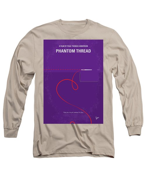 No904 My Phantom Thread Minimal Movie Poster Long Sleeve T-Shirt
