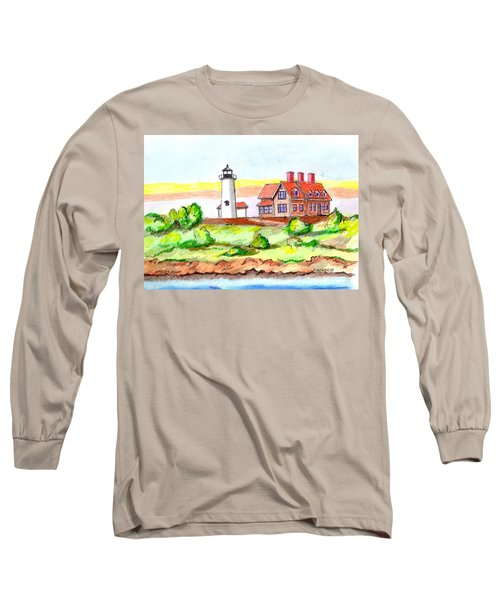 Nobska Point Lighthouse Long Sleeve T-Shirt by Paul Meinerth