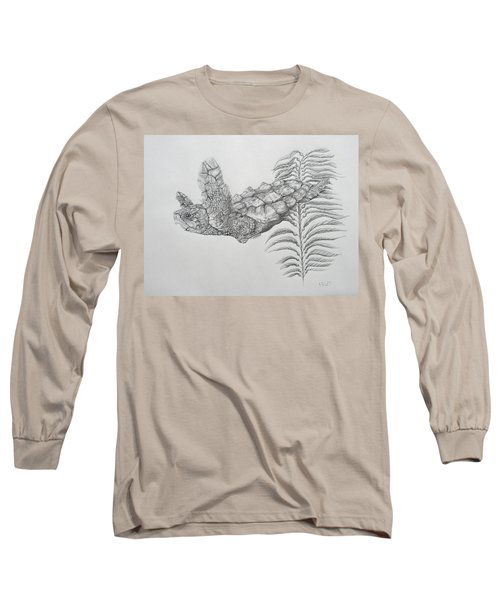Long Sleeve T-Shirt featuring the drawing Norman by Mayhem Mediums
