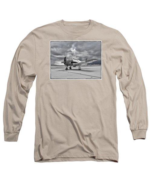 North American T-28 Long Sleeve T-Shirt by Douglas Castleman