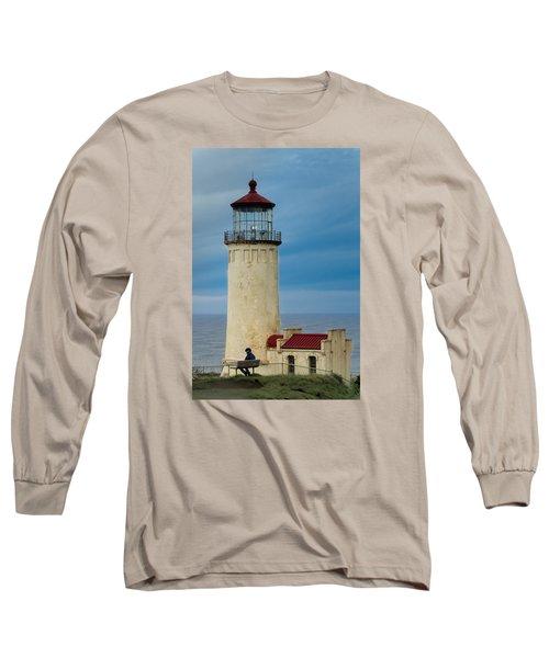 North Head Lighthouse Long Sleeve T-Shirt by E Faithe Lester