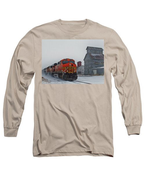 Northbound Winter Coal Drag Long Sleeve T-Shirt by Ken Smith