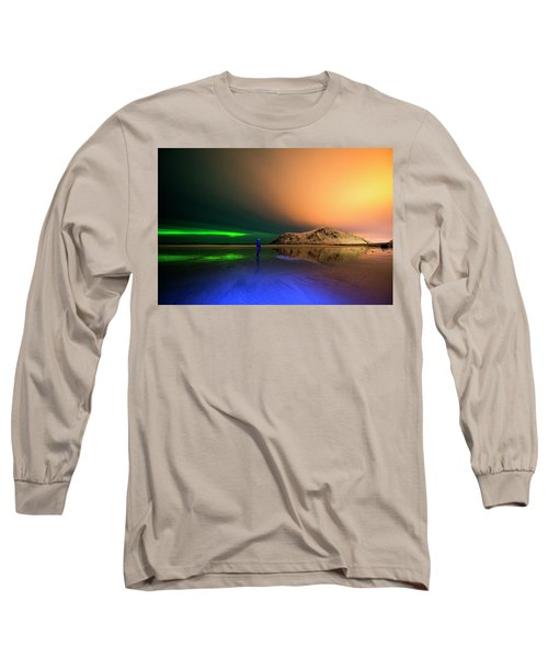 Northern Light In Lofoten, Nordland 4 Long Sleeve T-Shirt