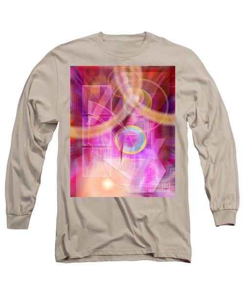 Northern Lights Long Sleeve T-Shirt by John Robert Beck