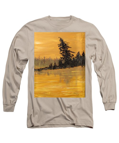 Long Sleeve T-Shirt featuring the painting Northern Ontario Three by Ian  MacDonald