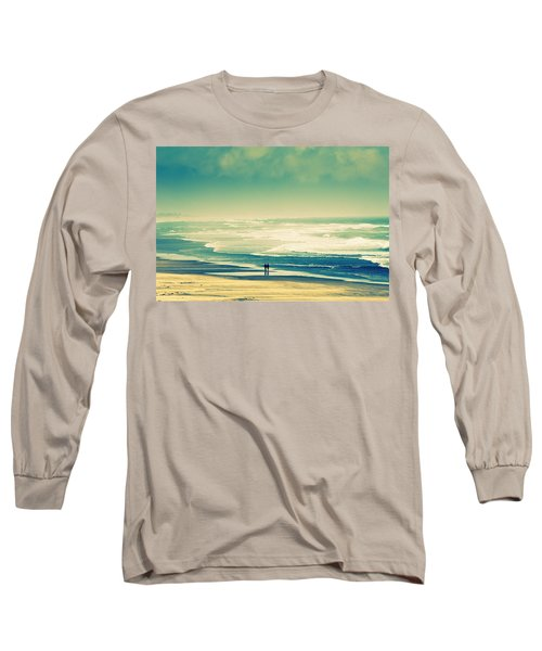 Nostalgic Oceanside Oregon Coast Long Sleeve T-Shirt by Amyn Nasser