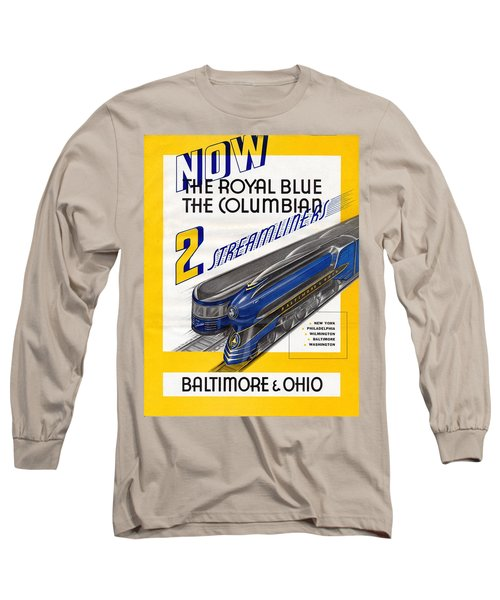 Now The Royal Blue The Columbian Long Sleeve T-Shirt