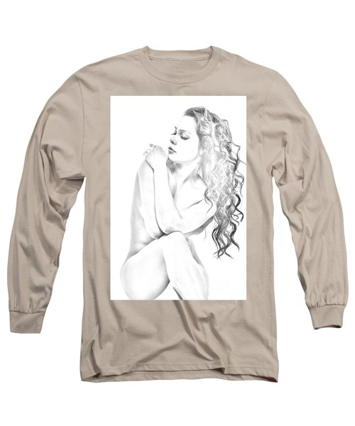 Nude Sketch Long Sleeve T-Shirt