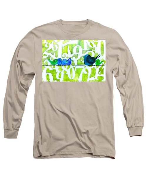 Numbirds Counting Lesson Long Sleeve T-Shirt