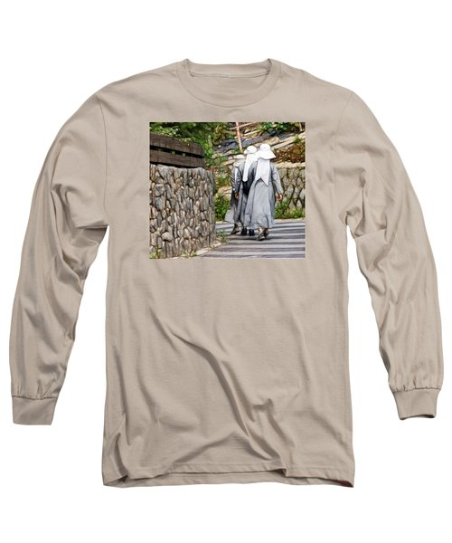 Long Sleeve T-Shirt featuring the photograph Nuns In A Row by Cameron Wood