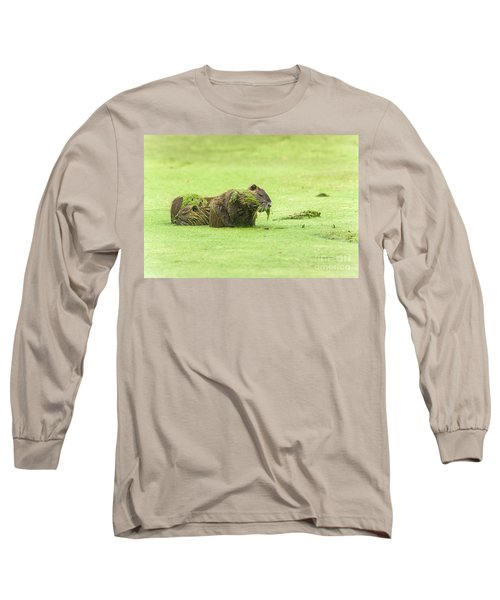Nutria In A Pesto Sauce Long Sleeve T-Shirt by Robert Frederick