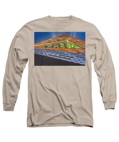 Long Sleeve T-Shirt featuring the photograph Nyc West 57 St Pyramid by Susan Candelario