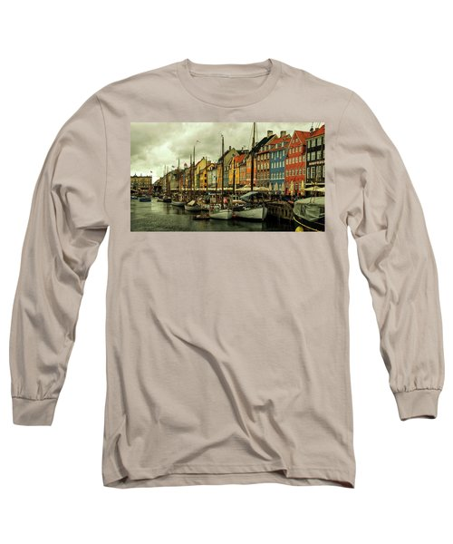 Nyhavn In Copenhagen Long Sleeve T-Shirt