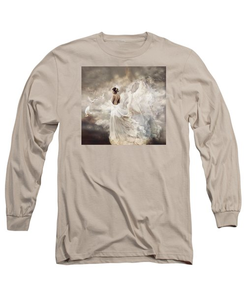 Nymph Of The Sky Long Sleeve T-Shirt by Lilia D