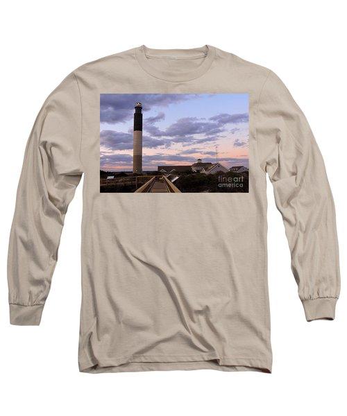 Oak Island Lighthouse Long Sleeve T-Shirt by Shelia Kempf