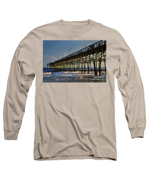 Oak Island Pier 2015 Long Sleeve T-Shirt