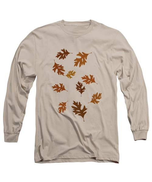 Oak Leaves Art Long Sleeve T-Shirt by Christina Rollo