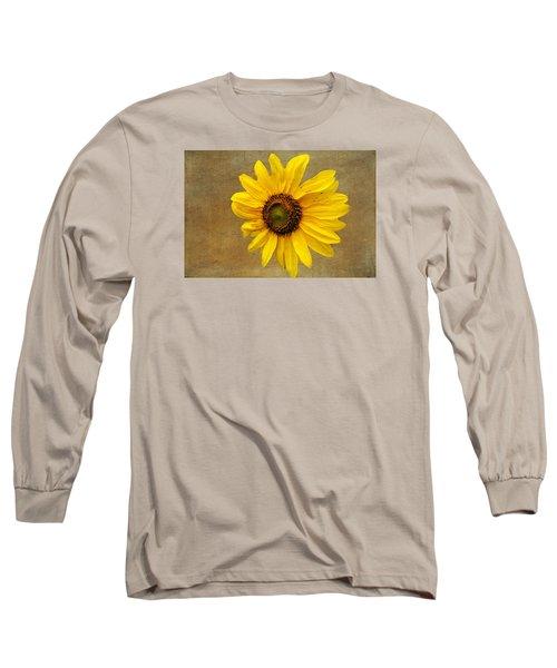 Long Sleeve T-Shirt featuring the photograph Oak Street Sunflower by Tom Singleton