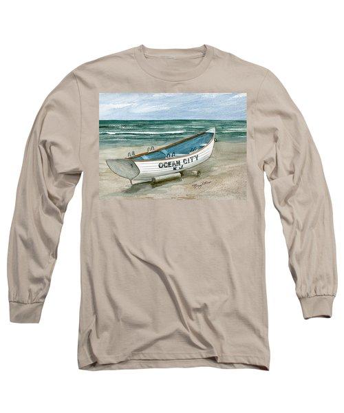 Ocean City Lifeguard Boat Long Sleeve T-Shirt