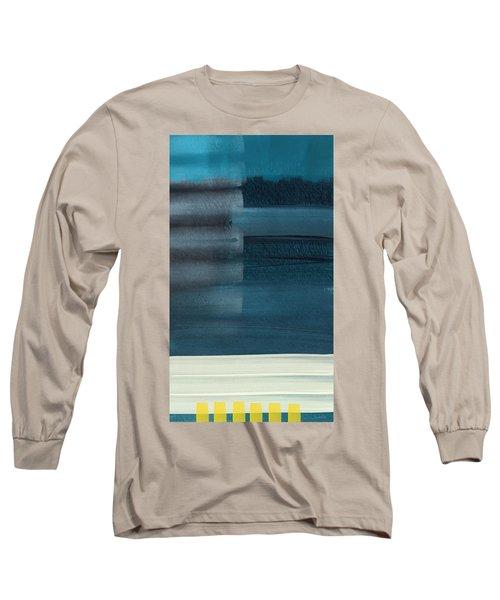 Ocean Front Walk 3- Art By Linda Woods Long Sleeve T-Shirt
