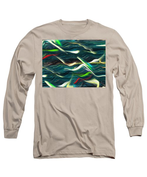 Ocean Run 2 Long Sleeve T-Shirt by Yul Olaivar
