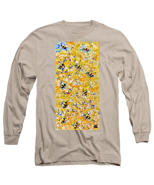 Ode To Bees.. Long Sleeve T-Shirt by Cristina Mihailescu