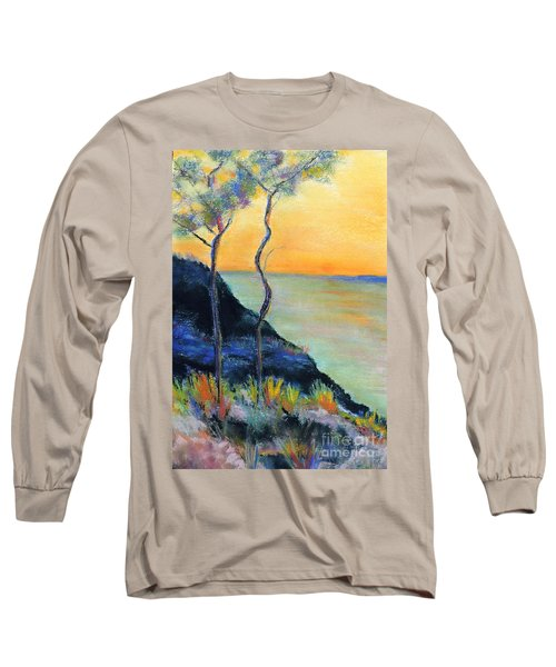 Long Sleeve T-Shirt featuring the pastel Ode To Monet by Jodie Marie Anne Richardson Traugott          aka jm-ART