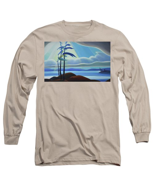 Ode To The North II - Center Panel Long Sleeve T-Shirt
